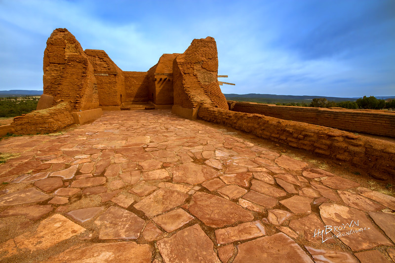 'Floor of Stone..' Pecos National Historical Park, Pecos, NM - The remains of Mission Nuestra Señora de los Ángeles de Porciúncula de los Pecos, a Spanish mission near the pueblo built in the early 17th century.