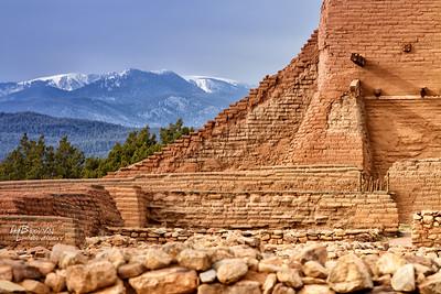 'To the North..' Pecos National Historical Park, Pecos, NM - The remains of Mission Nuestra Señora de los Ángeles de Porciúncula de los Pecos, a Spanish mission near the pueblo built in the early 17th century.