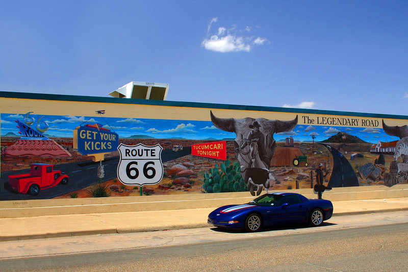 The Legendary Road Mural - Tucumcari, NM