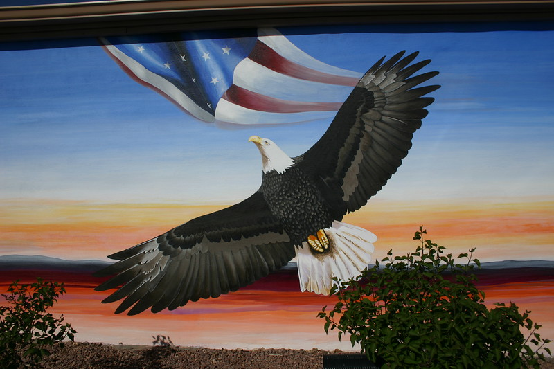 Veterans Memorial, Vietnam Mural, Gallup, NM