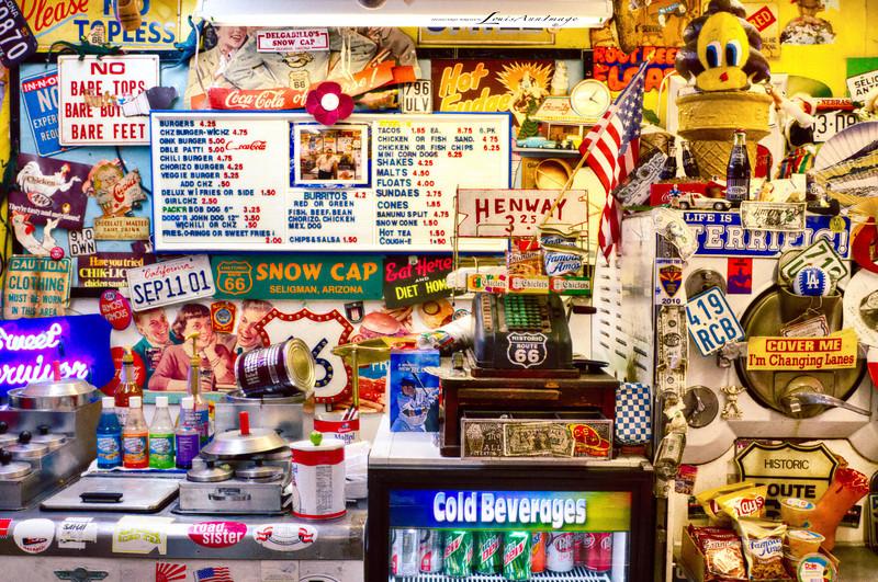 The business side of the burgers & ice cream trade in Seligman - Delgadillo's Snow Cap...