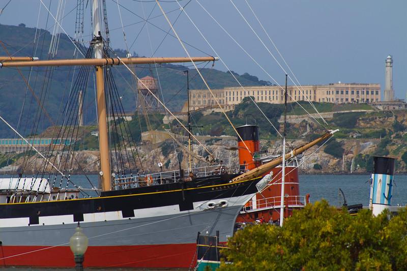 Maritime Museum, Alcatraz in background, San Francisco Bay