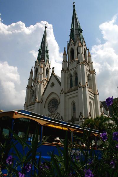 Trolly & Church - Old Savannah - Savannah, Georgia