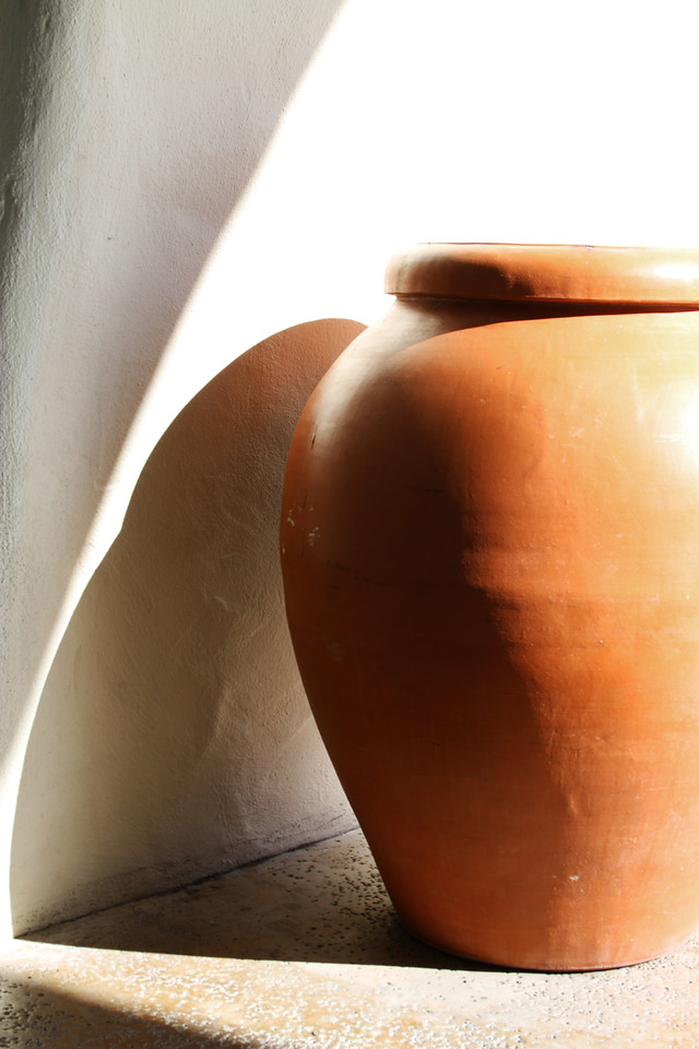 "Okay, we're also going to give this DailyPhotos thing a shot - always looking for more exposure...!  <br /> <br /> ""Clay Urn - Light and Shadow"" - Early Spring in the Napa Valley."