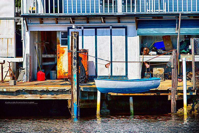 Typical warf scene - Tarpon Springs, Florida