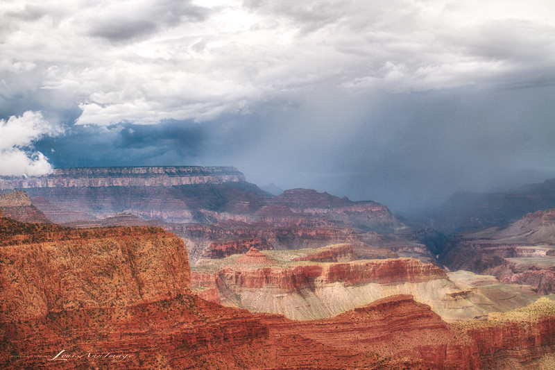 Rain at Moran Point, Grand Canyon, Arizona