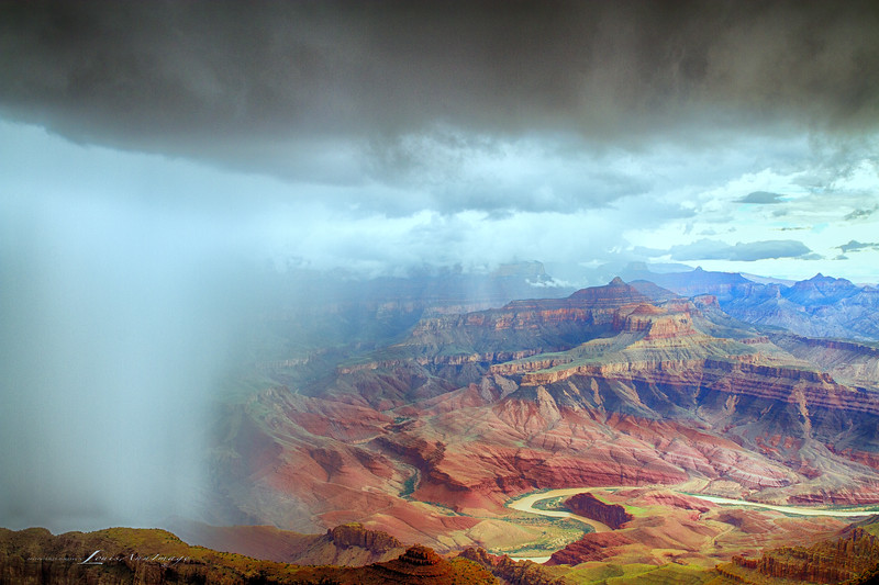 'Lipon Point Monsoon...' South Rim, Grand Canyon, Arizona - Three Image Bracket Set HDR.