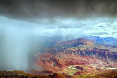 'Lipon Point Monsoon...' South Rim, Grand Canyon, Arizona - Three Image Bracket Set HDR.
