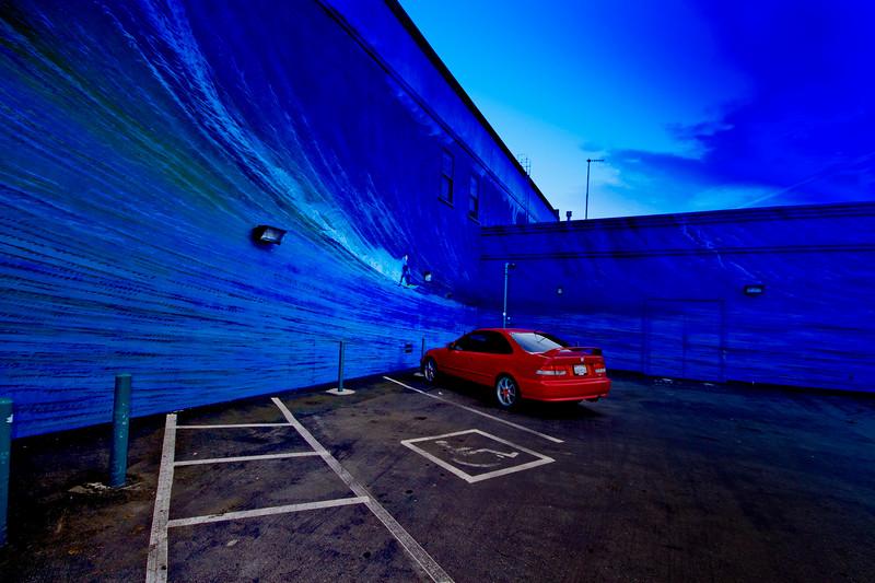 Blue Surf Mural, Half Moon Bay, California