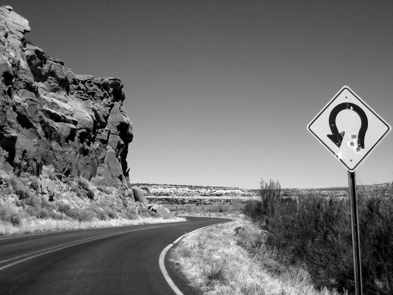 Dead Mans Curve, Villa de Cubero, New Mexico , Route 66 - Main Street USA.