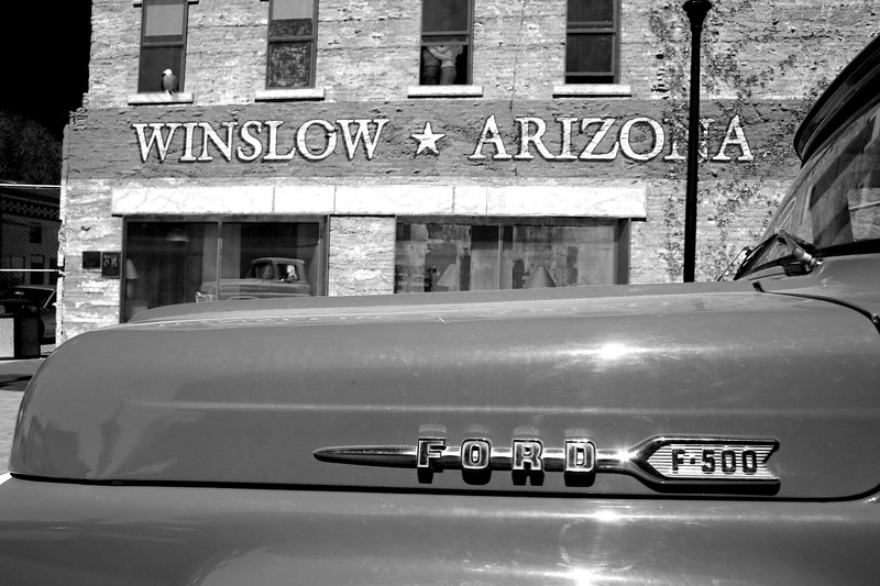 Flatbed Ford - Standing On A Corner Park, Winslow, Arizona, Route 66 - Main Street USA.