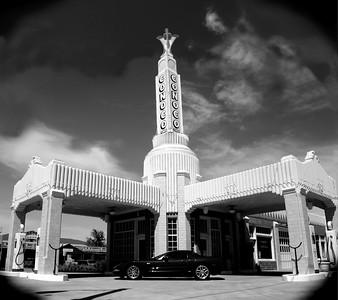 Tower Conoco, Shamrock, Texas , Route 66 - Main Street USA.