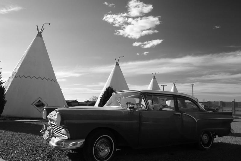 1957 Ford, Wigwam Village, Route 66, Holbrook, Arizona