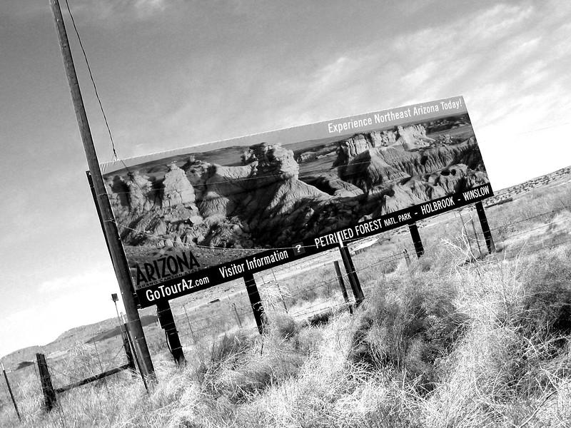 Roadside Billboard - I-40, Arizona