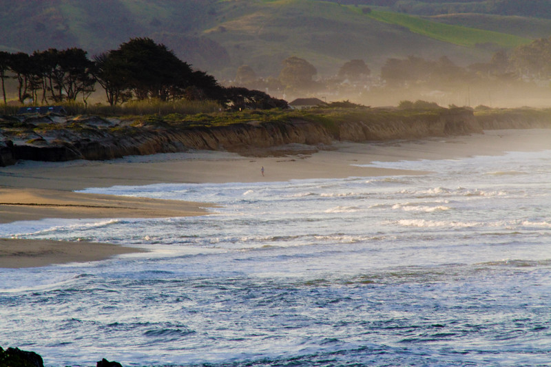 """Morning fog lifting"" - Half Moon Bay State Beach."