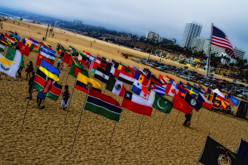 """Remembrance - September 11, 2010 - On the beach - Santa Monica Pier, Santa Monica, California"