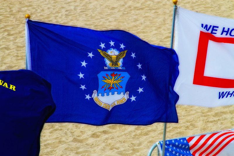 """USAF"" - September 11, 2010 - On the beach - Santa Monica Pier, Santa Monica, California"