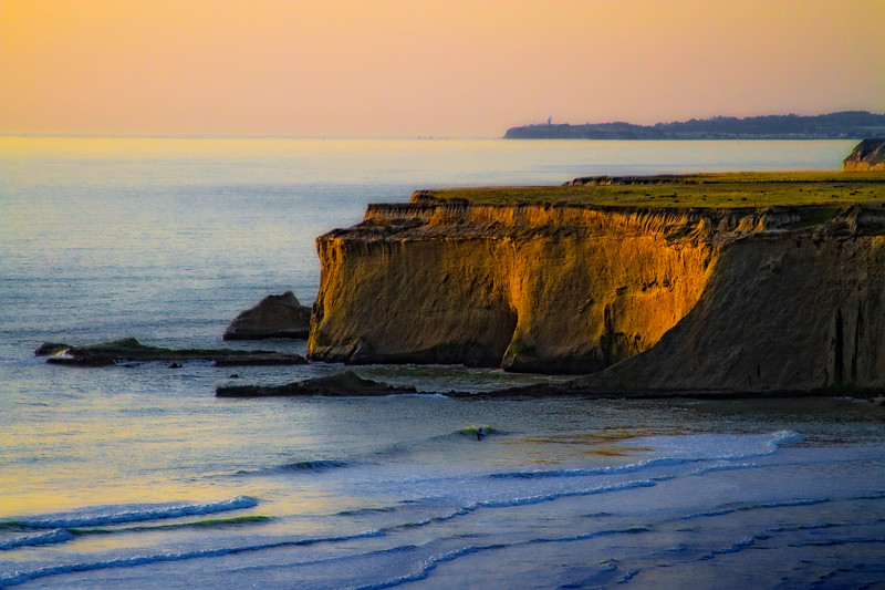 """""""Look Close""""  - I did not even see the surfer when I was working this sunset...   Pacific Coast Highway, south of Half Moon Bay, California"""