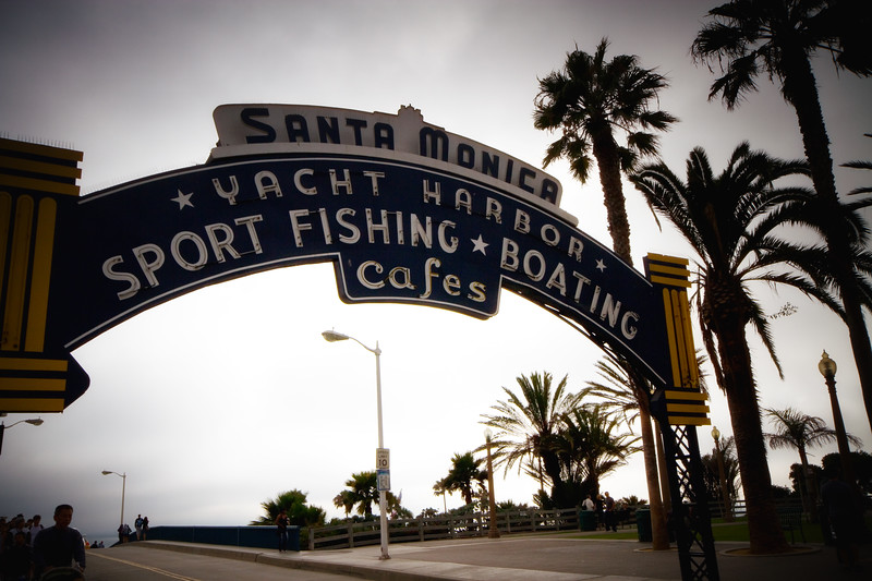 """The Obligatory Santa Monica Yacht Harbor Image"" Pier Entrance.. Santa Monica, California"