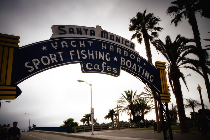 """The Obligatory Santa Monica Yacht Harbor Image"" Pier Entrance.. Santa Monica, California"