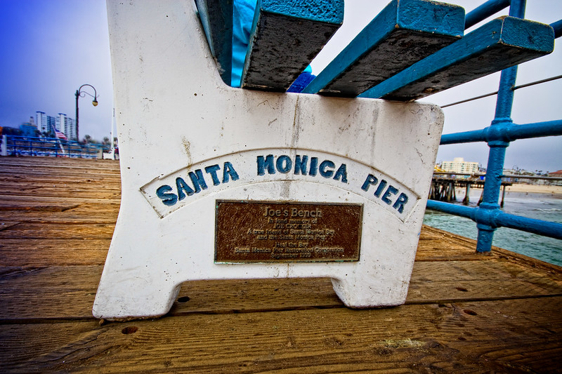 """Joe's Bench""  Santa Monica Pier, Santa Monica, California"