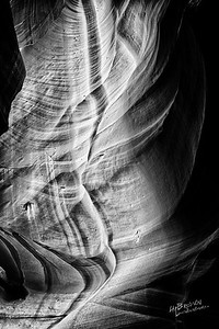 The land of Red Dirt and the awesome slots - Upper and Lower Antelope Canyon.  Black and White - Three exposure HDR..