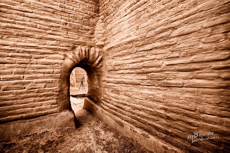 'Adobe architecture..' Fine examples of arched entranceways.. Pecos National Historical Park, Pecos, NM - The remains of Mission Nuestra Señora de los Ángeles de Porciúncula de los Pecos, a Spanish mission near the pueblo built in the early 17th century.