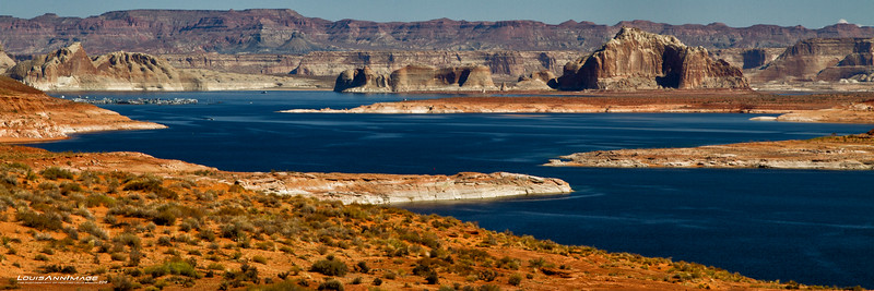 Lake Powell, north toward Wahweep Resort & Marina. From the Park Access road.. Page, Arizona