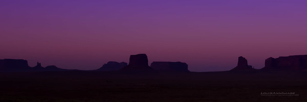 "The last colors before darkness..  Monument Valley, Navajo Tribal Park, AZ See More of Arizona & Utah - ""The Southwestern Sun' here: http://smu.gs/RfQCCf"