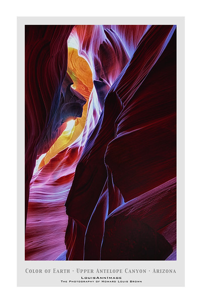 Color of Earth - Upper Antelope Canyon, on the Navajo Nation, near Page, Arizona - 24x36 Poster Format.