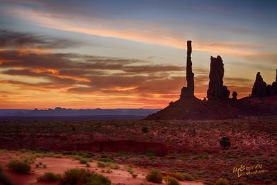Totem Poles - Monument Valley Navajo Tribal Park, Arizona - Before the sunrise we wait in solitude & silence, in awe of God's wonder. Three exposure HDR Set, Canon 7D, EF24-70mm f/2.8L II USM @ 50mm, 1/30 s, 1/15 s. 1/8 s, f/11, ISO 100, PS CC, NIK HDR Efex Pro 2 - Custom Profile, NIK Viviza to finish adjustments.