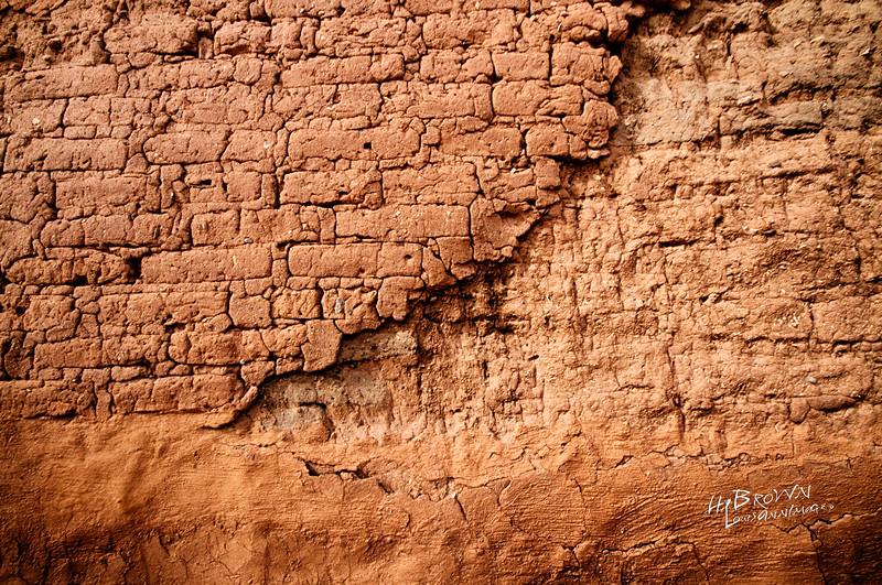 'Earthen Walls..' Pecos National Historical Park, Pecos, NM - The remains of Mission Nuestra Señora de los Ángeles de Porciúncula de los Pecos, a Spanish mission near the pueblo built in the early 17th century.