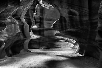 "A three exposure HDR - Upper Antelope Canyon, Black and White, Page, AZ See More of Arizona & Utah - ""The Southwestern Sun' here: http://smu.gs/RfQCCf"