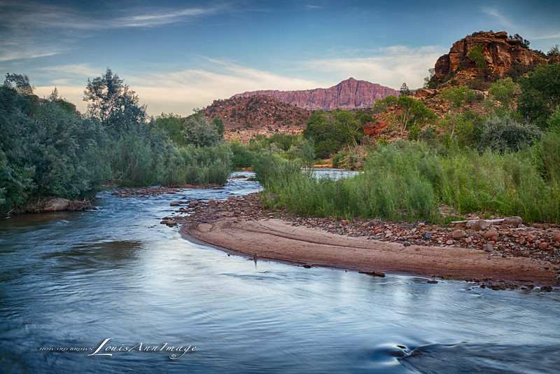 At the Bend ~ Virgin River, Rockville, Utah