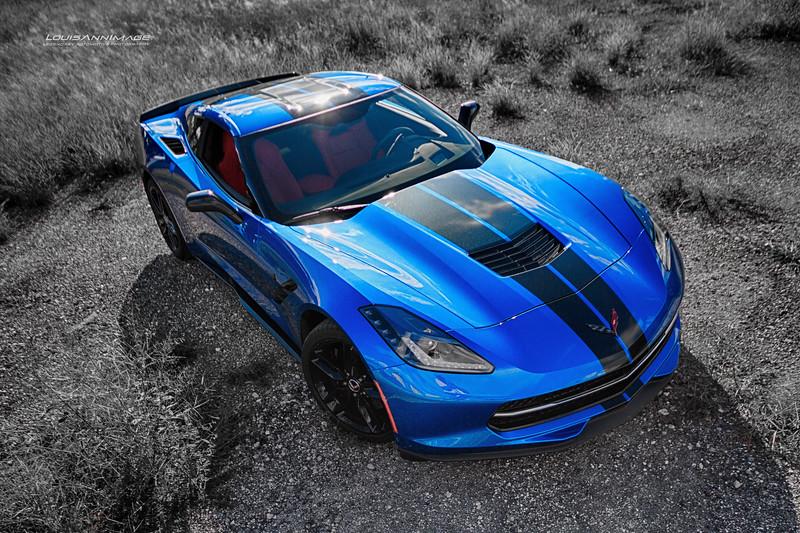 A Rare 2015 Laguna Blue Red Interior Z51 Coupe...