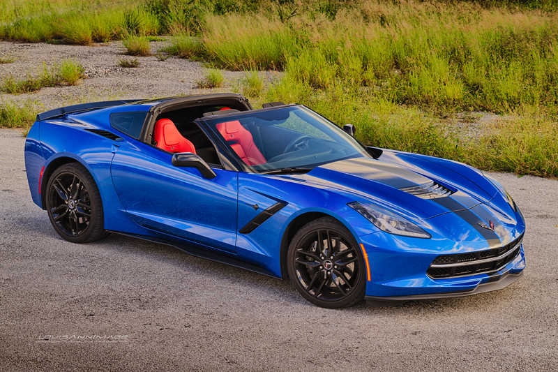 A Rare 2015 Laguna Blue Red Interior Z51 Coupe...