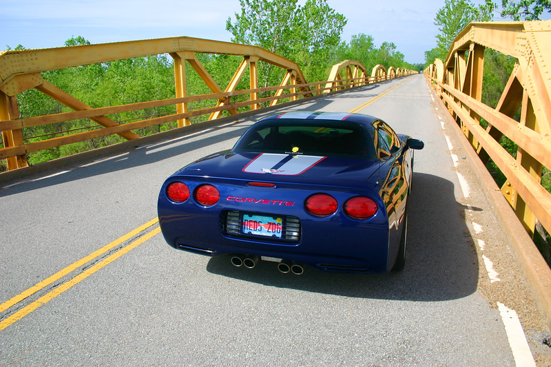 Reds Z06 at the Pony Truss Bridge - Route 66 - Bridgeport, Oklahoma