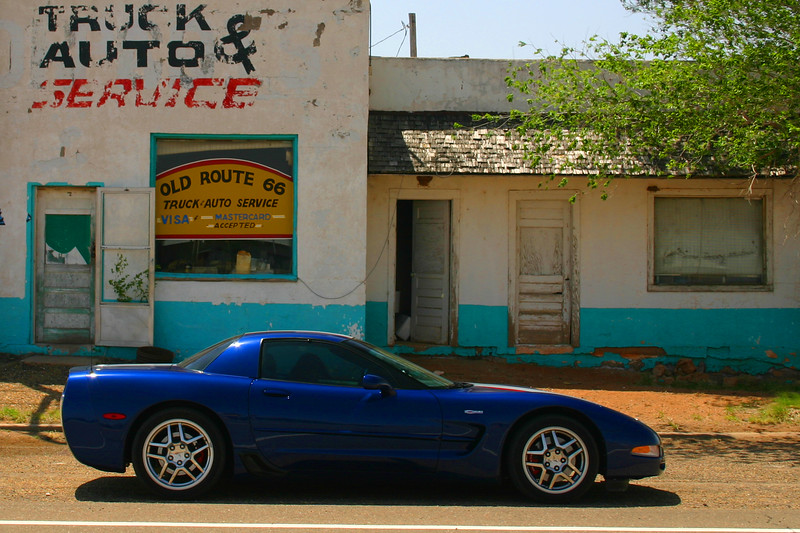 Reds Z06 - Old Route 66 Truck & Auto Service - San Jon, New Mexico