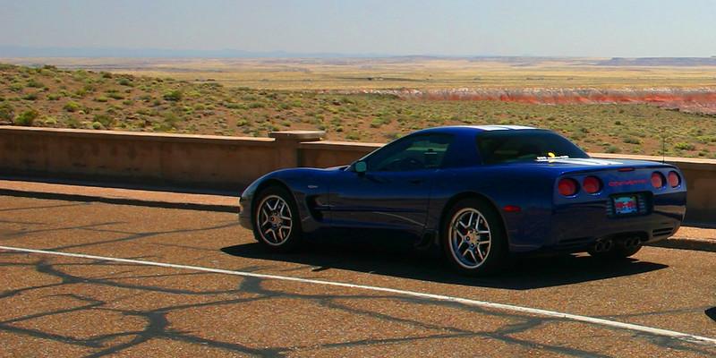 Reds Z06 at The Painted Desert, Arizona