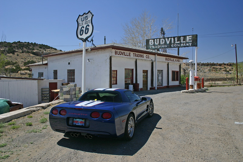 Reds Z06 at Budville Trading Post - on Route 66, Budville, New Mexico