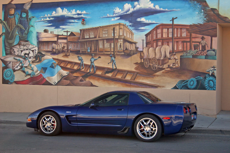 Reds Z06 - Downtown Murals - Gallup, New Mexico