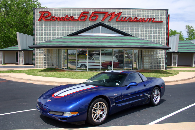 Reds Z06 at The Route 66 Museum - Clinton, Oklahoma