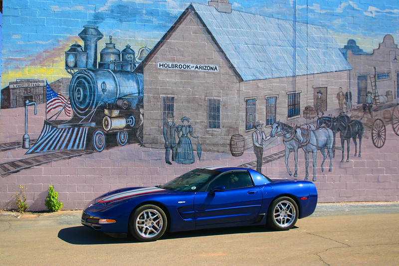 Reds Z06 - Downtown Holbrook Mural - Route 66 - Holbrook, Arizona