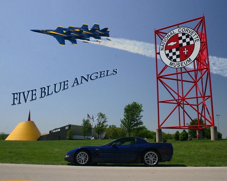 A little fun with PP - The Angels were at Jax Naval Air Station - 2006 - the Z16 is at the NCM, also in 2006 - Reds Z06 - '04 Commemorative Edition Z06