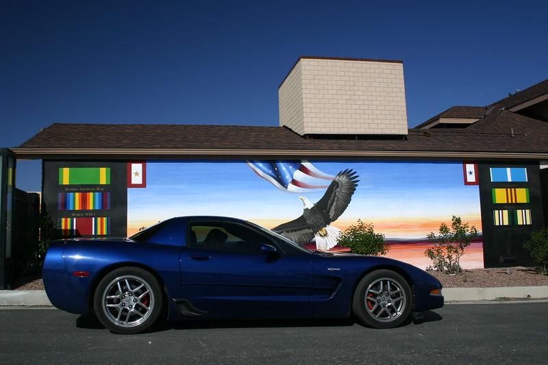 Reds Z06 - Vietnam Veteran Mural - Veterans Park, Downtown Gallup, New Mexico