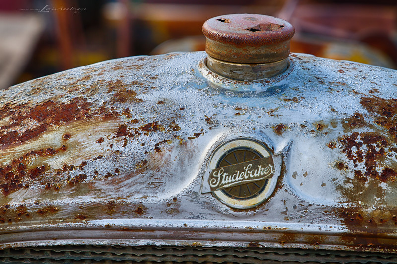 Studebaker Radiator...<br /> From Don King's Collection of Relics and Rust, Gold King Mine & Ghost Town, Jerome, Arizona - Three Exposure HDR Set