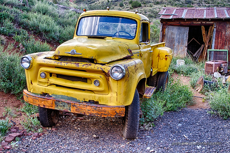 From Don King's Collection of Relics and Rust, Gold King Mine & Ghost Town, Jerome, Arizona - Three Exposure HDR Set