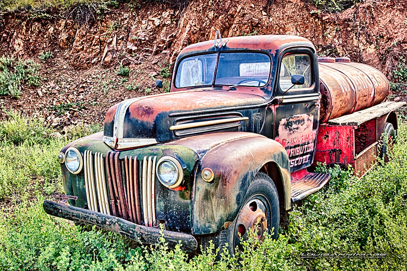 Ford Tanker... From Don King's Collection of Relics and Rust, Gold King Mine & Ghost Town, Jerome, Arizona - Three Exposure HDR Set