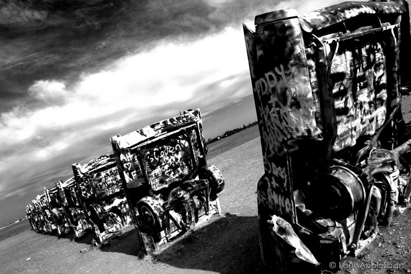 Cadillac Ranch, Amarillo, Texas , Route 66 - Main Street USA.