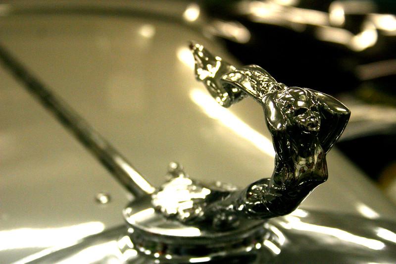 Automotive Sculpture, aka: Hood Ornament - Wiseman Collection - Tarpon Springs, Florida Hood Ornaments of classic automobiles